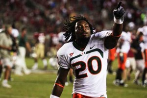 MAKING THE TRANSITION: Senior Damien Berry did not begin his career as a running back for the Miami Hurricanes. He was originally recruited in 2007 to play safety, but made the transition to his current position once his coaches recognized his potential.