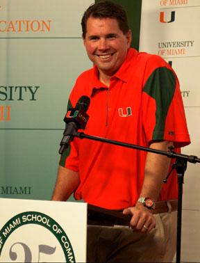 University of Miami Head Coach, Al Golden