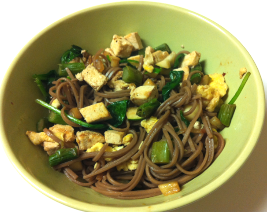 One of Amanda's meals during the week was this vegan tofu bowl.