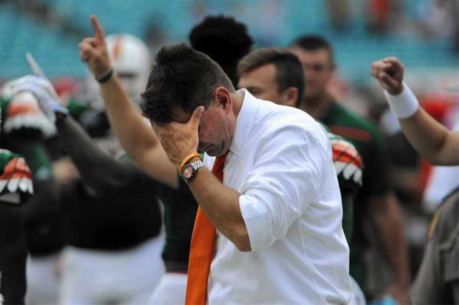 Head Coach Al Golden during Saturday's loss to Clemson University