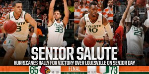 The Miami seniors played a huge role in their victory against Louisville / Hurricane Sports.