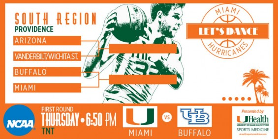 Miami faces Buffalo in the first round of the NCAA Tournament / Hurricanesports