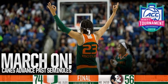 Miami advances to the semifinals to face Notre Dame / Hurricanesports
