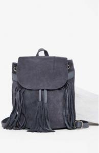Suede Fringe Backpack at Nasty Gal