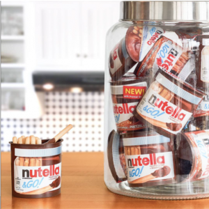 Get the classic Nutella chocolate on the go along with mini breadsticks to satisfy that sweet and salty craving. Nutella & GO can be found in several supermarkets, as well as online. // Source: Instagram  @NutellaUS
