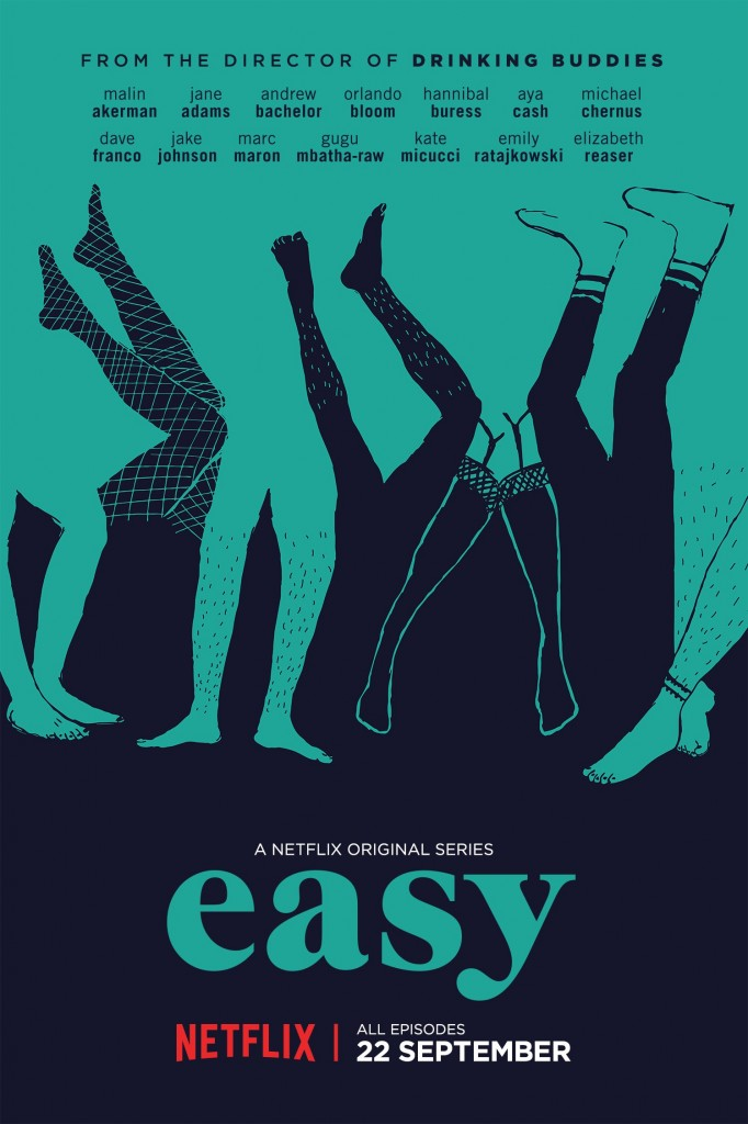 Easy debuted on Netflix on Sept. 22, 2016, showing binge-watching audiences the ins-and-outs of modern-day relationships. The show consists of eight half-hour episodes set in Chicago. Source: Netflix