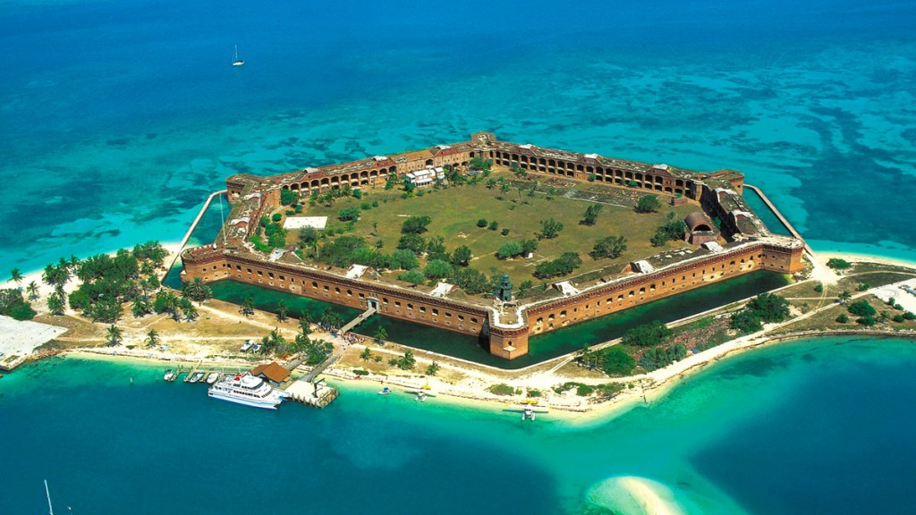 Dry Tortugas is a national park by Key West where travelers can explore everything it has to offer, both on land and sea. Source: Drytortugas.com.
