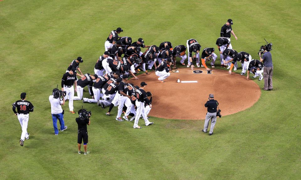 After Jose Fernandez's boating accident, the Marlins honored the pitcher by wearing his jersey against the New York Mets. Source: Newsday.