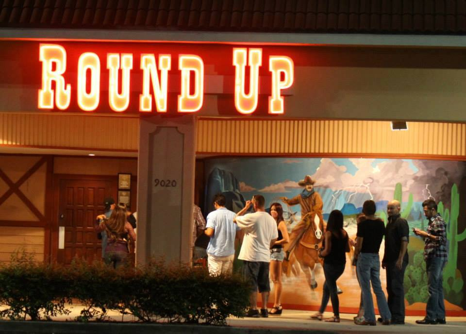 Round Up usually has a line outside the goes by quickly so line-dancers can head inside and enjoy the night. Source: Facebook, Round Up Night Club.
