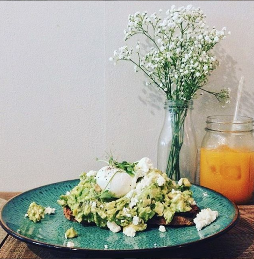 Threefold Cafe's Smashed Avo on Toast is a specialty featured all over their menu and social media. Remember, you can never have too much avocado. Source: Instagram, @threefoldcafe.