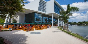 A view of the Shalala Student Center that houses several food options on the University of Miami campus (Curbed Miami)